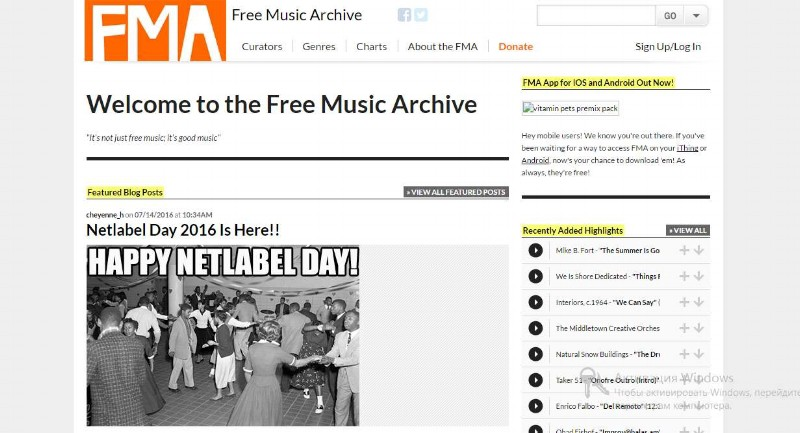 The Free Music Archive is a vast repository of music in the public domain and creative commons, representing an enormous vault of musical recordings in different genres, times and cultures.