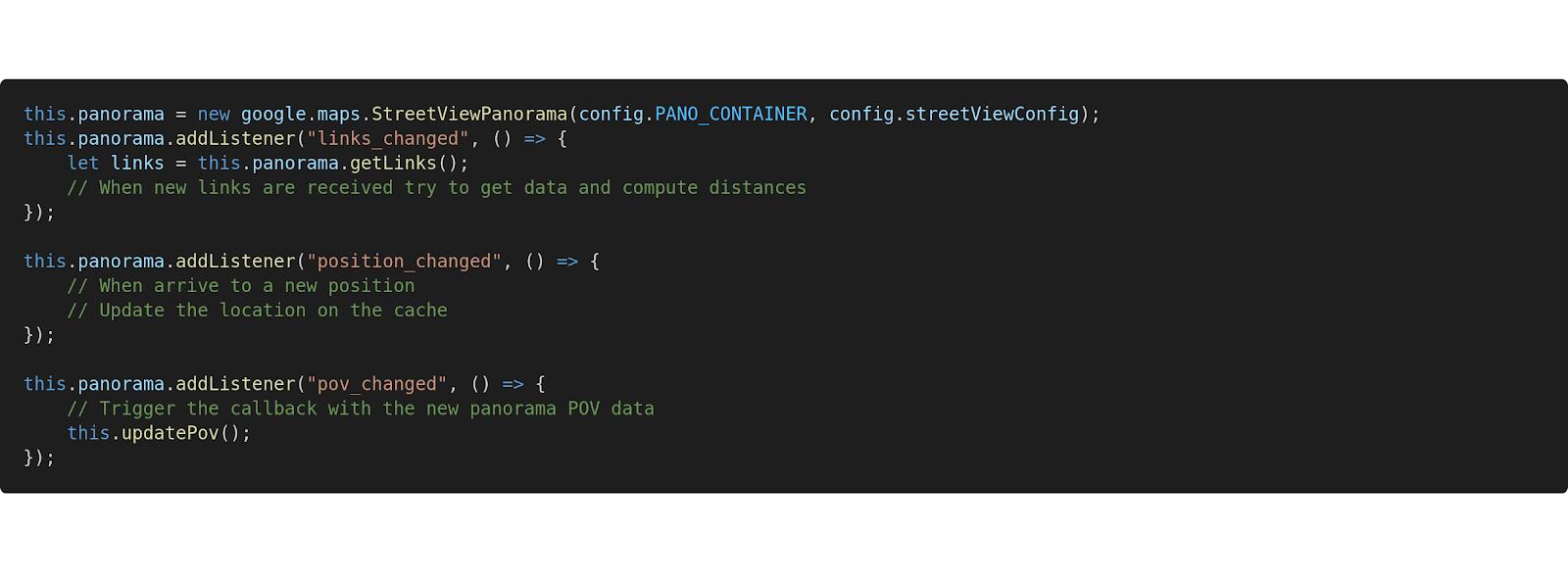 Screenshot from the StreetMeet Code