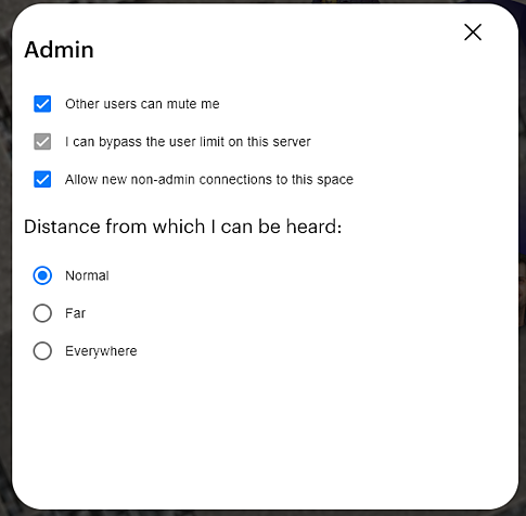 "Admin panel showing new connections in the ""allowed"" state.."