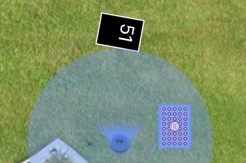 There is a circular area around the avatar that is highlighted in the person's color. There is a card inside the area.