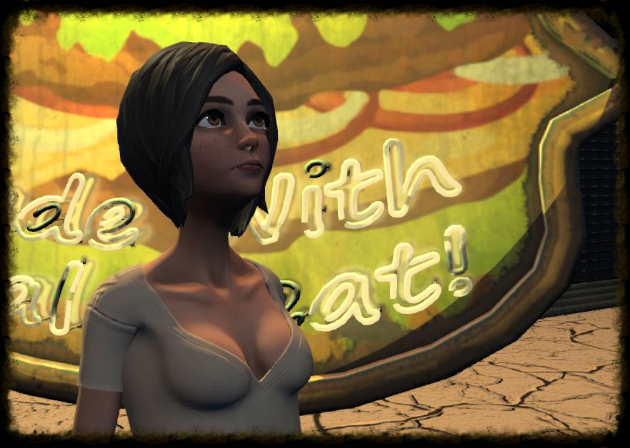 The Art3mis example avatar uses a more traditional, cartoon style