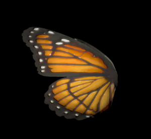 This butterfly wing combines 4 PBR maps & an emissive map to create a glowing effect in High Fidelity.