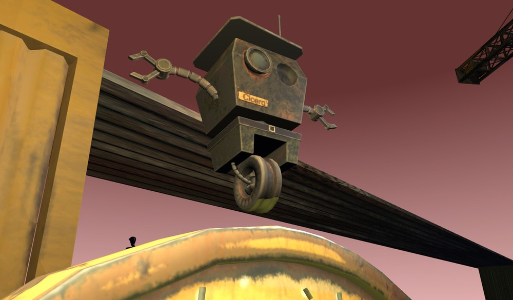 Cicero is our rusty and dusty park ranger droid in the Play domain in High Fidelity