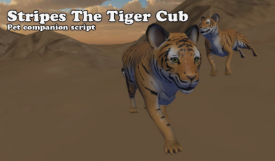 Stripes the Tiger Cub by Menithal
